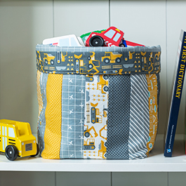 How to Make a Fabric Basket using Jelly Roll Strips