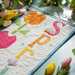 A Year in Words Wall Hanging | How to Make a Pieced Tulip Block