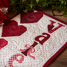 A Year in Words Wall Hanging | How to Make a Pieced Heart Block