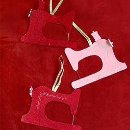 DIY Sewing Machine Ornament