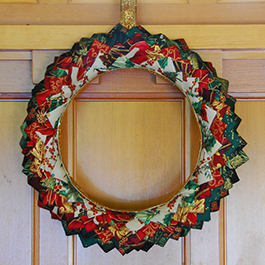 DIY No-Sew Quilted Christmas Wreath