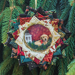 DIY No-Sew Quilted Picture Frame Ornament