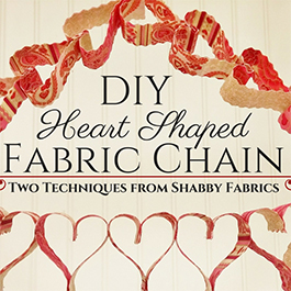 DIY Heart Shaped Fabric Chain: 2 Techniques in 1