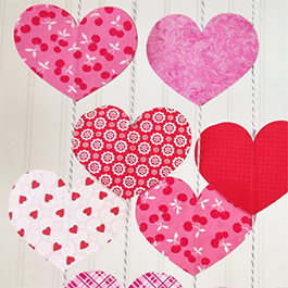 DIY Heart Chains Using Laser-Cut Appliqué Shapes