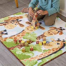 How to Make a Chenille Rug out of a Fabric Panel