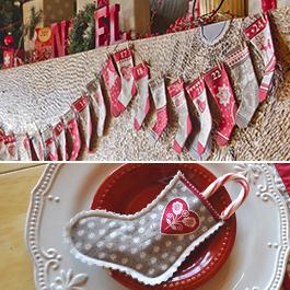 DIY Stocking Advent Garland & Christmas Place Settings