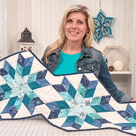How to Make a Snowflake Table Runner (6-Pointed Star)