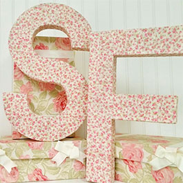How to Make Fabric Covered Letters