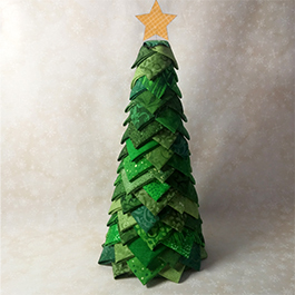 """No-Sew """"Quilted"""" Christmas Tree"""