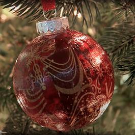 DIY Mod Podge and Fabric Ornaments