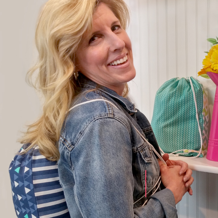 How to Make a Fat Quarter Drawstring Backpack