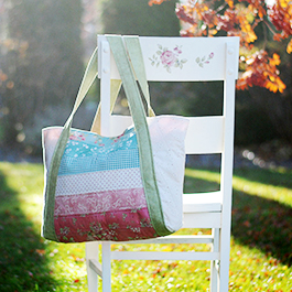 How to Make a Giant Jelly Roll Tote Bag