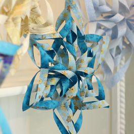 Easy 3D Fabric Snowflakes