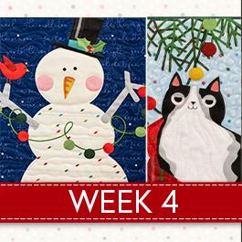Noel Panel Sampler Sew Along - Week 4