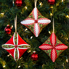 How to Make the Cathedral Window Christmas Ornaments Tutorial