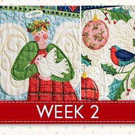 Noel Panel Sampler Sew Along - Week 2