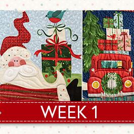 Noel Panel Sampler Sew Along - Week 1