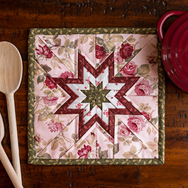 How to Make a Folded Star Squared Hot Pad from Plum Easy Patterns