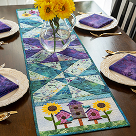 Easy Pieced Table Runner Series - August