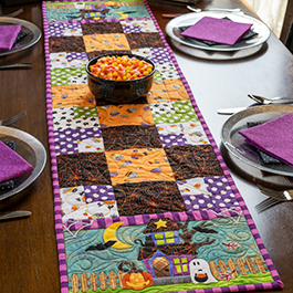 Easy Pieced Table Runner Series - October