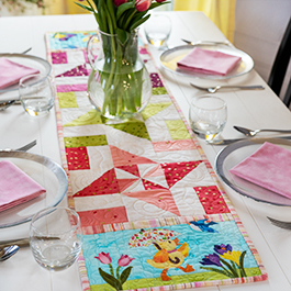 Easy Pieced Table Runner Series - March
