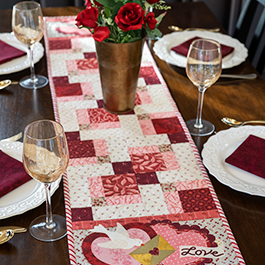 Easy Pieced Table Runner Series - February