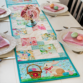 Easy Pieced Table Runner Series - April