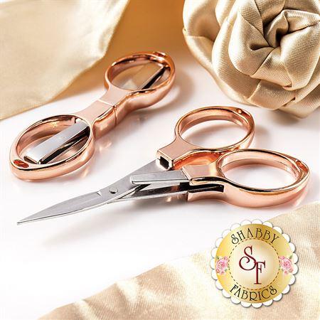Rose Gold Folding Scissors