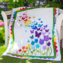 Making the Prairie Points on the Blooming Butterflies Laser Cut Appliqué Quilt