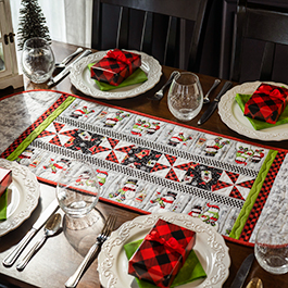 How to Make a Table Runner Using a Border Stripe