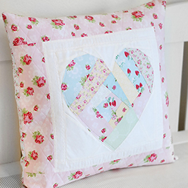 How to Make a Heart Pillow with Foundation Paper Piecing