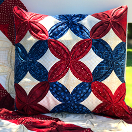 How to Make a Cathedral Window Patriotic Pillow