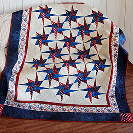 How to Make the Patriotic Starry Path Quilt