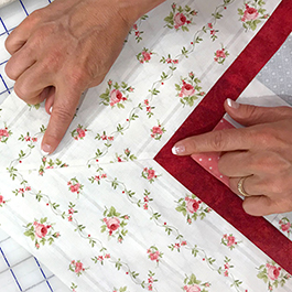 How to Miter a Striped Border