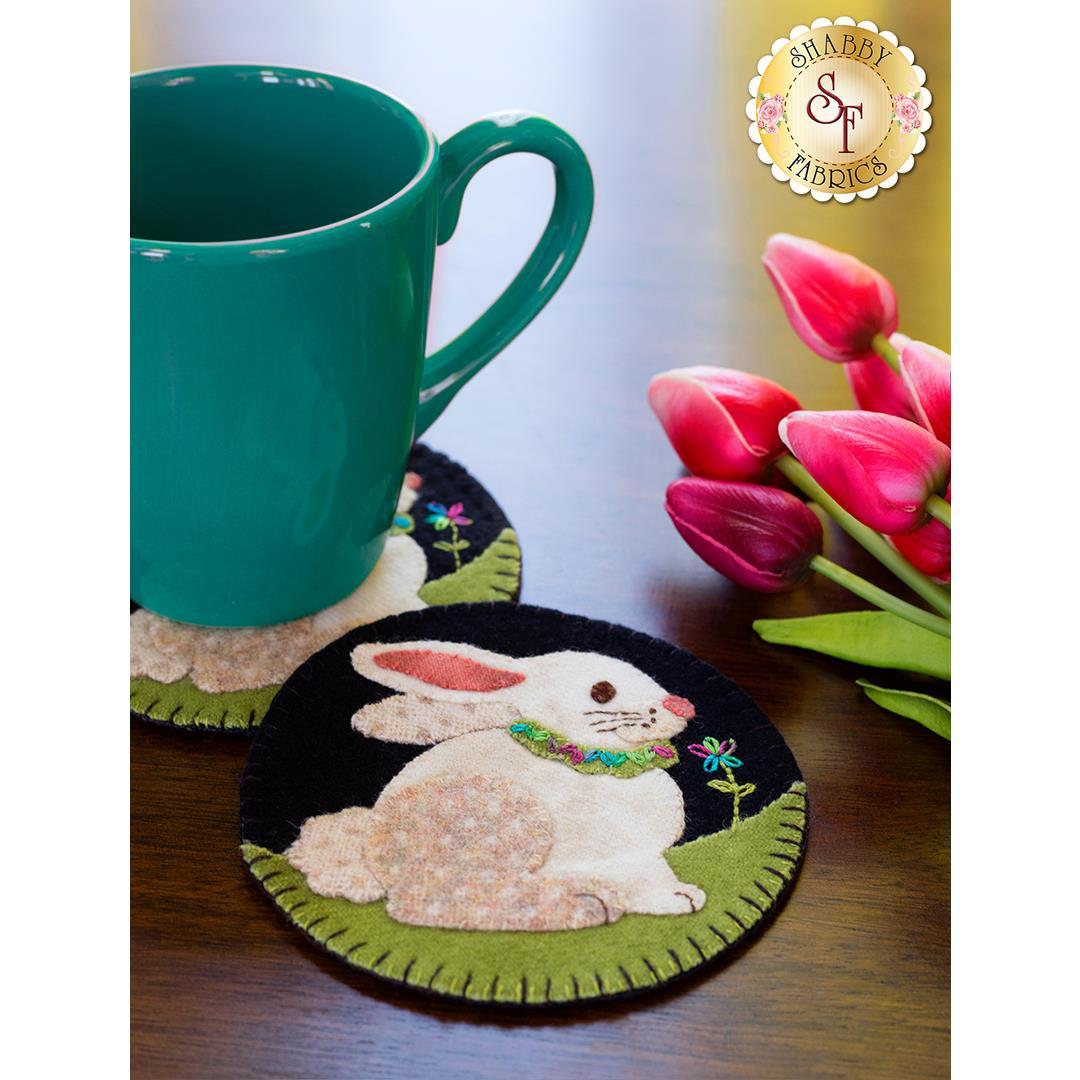 How to Make Easter Bunny Wooly Mug Rugs