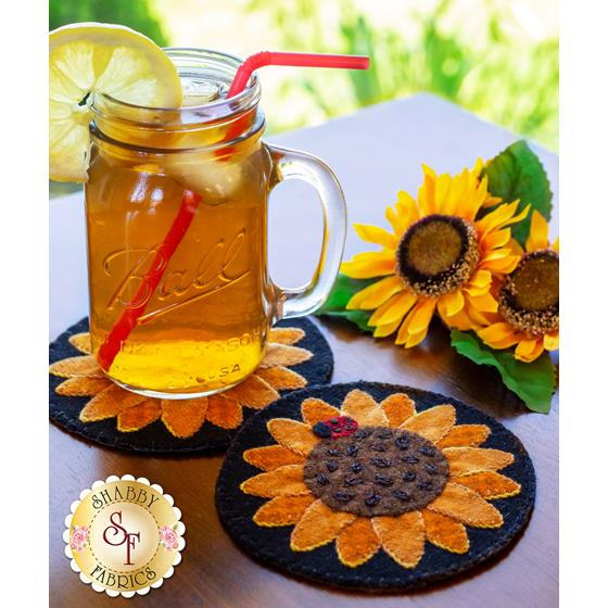 How to Make Sunflower Wooly Mug Rugs