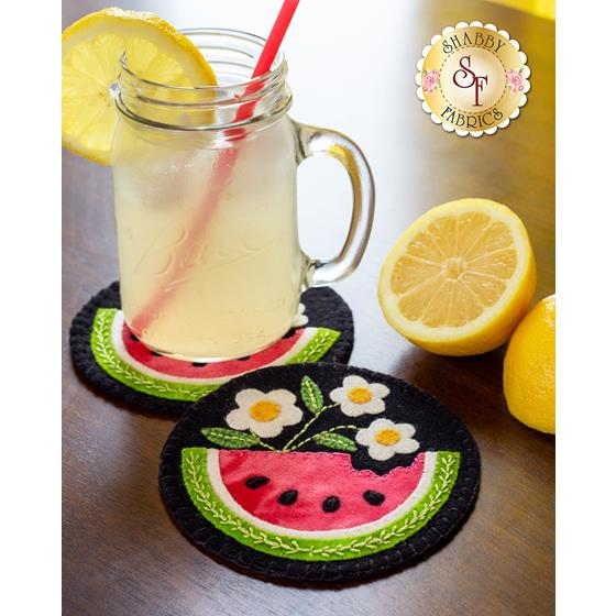 How to Make Watermelon Wooly Mug Rugs