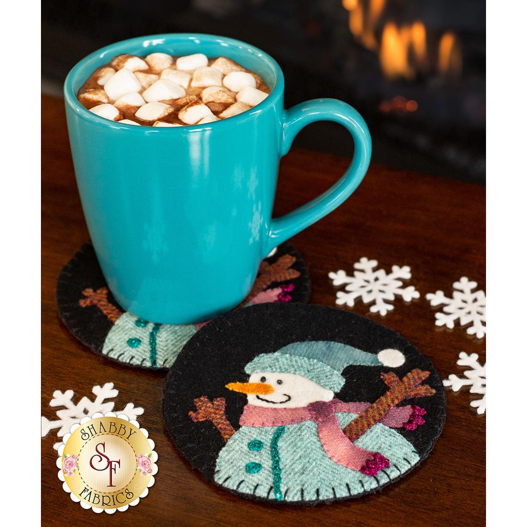 How to Make Snowman Wooly Mug Rugs