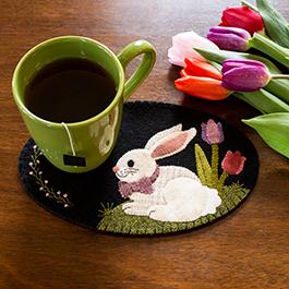 Wooly Mug Mat Series - April