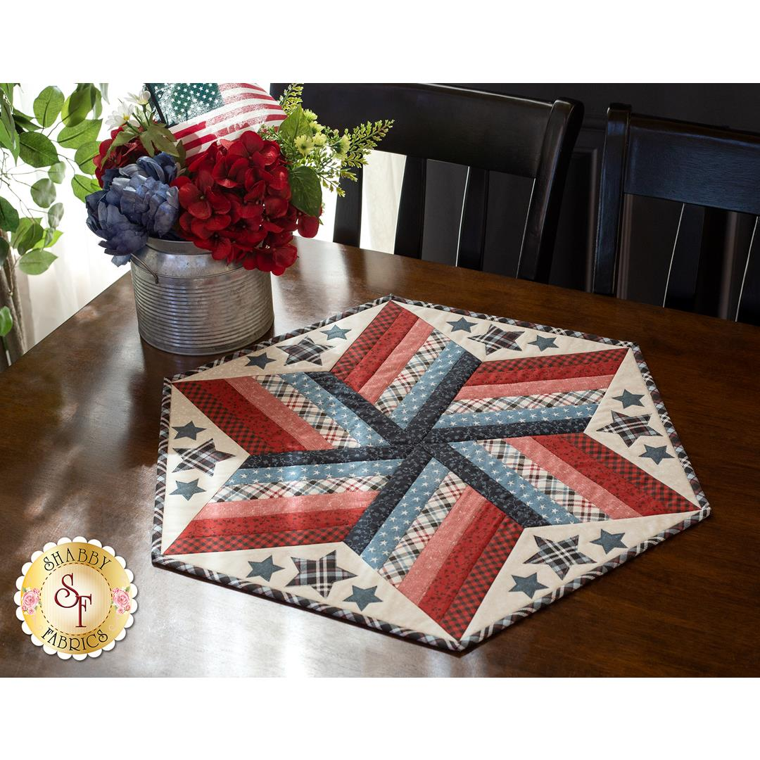 How to Use  the 60º Diamond Ruler to Make a Table Topper