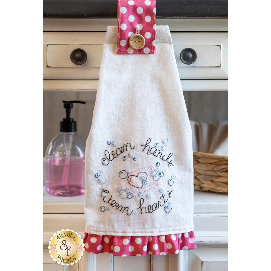 How to Make the Clean Hands Warm Hearts Towel + FREE Pattern