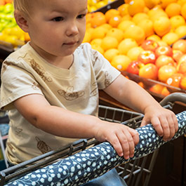 How to Make a Shopping Cart Handle Cover - Easy Sewing Project