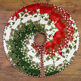 Make a Bargello Tree Skirt with June Tailor Pre-Printed Batting