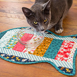 How to Make a Quilt As You Go Cat Placemat