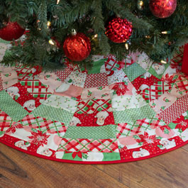 How to Make June Tailor's Quilt As You Go Tree Skirt